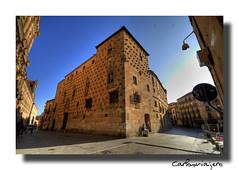 IMG_0556_La Casa de las Conchas_Salamanca (carlosviajero89) Tags: travel viaje espaa canon spain arquitectura monumentos salamanca hdr 2010 castillayleon carlosviajero89 carlospla carlosviajero carlosviajeropla