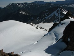 Snow Dome, Blue Glacier, lateral moraine from summit