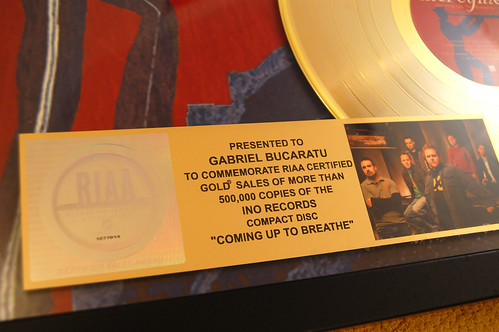 Personalized MercyMe Gold Disc