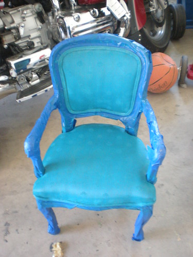 dyed chair