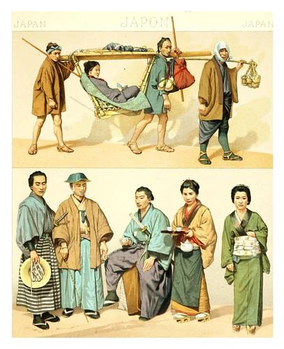 025-Japon-Transporte de personas- -Geschichte des kostüms in chronologischer entwicklung 1888- A. Racinet