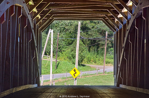 White Rock Forge Covered Bridge (Road Ahead) hdr 11