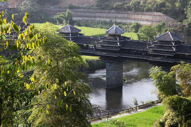 Wind and Rain bridge in Chengyang, Guangxi, China