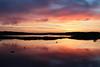Tjøme Sunset (fairminer) Tags: sunset red sea sky orange reflection water silhouette norway ferry clouds fence islands boat norge seaside ship himmel shore fjord vann hav solnedgang sjø tjøme skjær