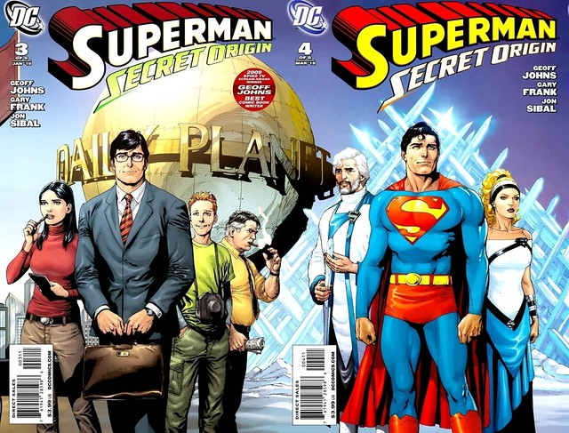 Superman Secret Origin Gary Frank covers 3-4 joined
