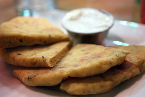 Vadouvan Naan Bread with Salted Coconut Butter
