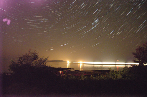 Star Trails over Lasqueti Island