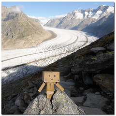 Dieter on Tour @ Aletsch Glacier, Unesco World Heritage, Valais Switzerland (Toni_V) Tags: nature schweiz switzerland amazon europe dof suisse hiking unesco dieter gletscher wallis valais worldheritage 2010 jungfrau aletsch weltkulturerbe randonne aletschgletscher d300 sigma1020mm 100903 danbo valaisswitzerland aletschglacier revoltech capturenx toniv dsc3681 danboard flickrtravelaward bettmerhornfiescheralp