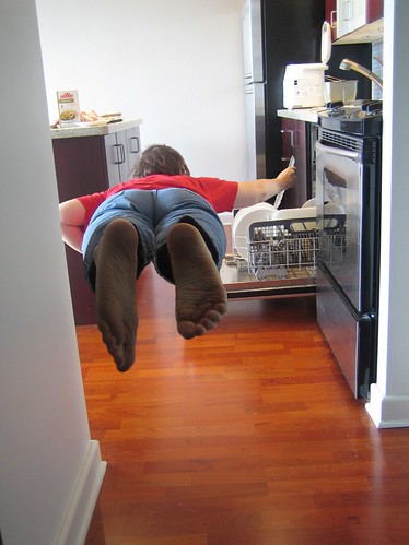 diving into housework