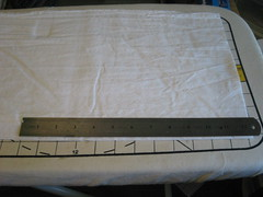measuring on ironing board