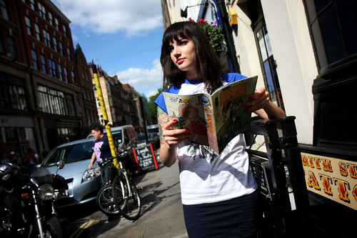 reading comics · public · frith street · frith street tattoo · comic