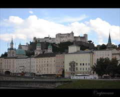 Austria Day 5@Salzburg: View of the castle (capreoara) Tags: pictures summer salzburg castle architecture buildings austria nikon day tour hill taken august center osterreich fifth 2010 d3000