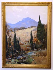 """""""The Long Trail"""" - Chauncey Foster Ryder, 1934 (travelontheside) Tags: art museum painting manchester artist culture newhampshire nh canvas oil artmuseum manchesternh 1934 curriermuseumofart thelongtrail chaunceyfosterryder"""