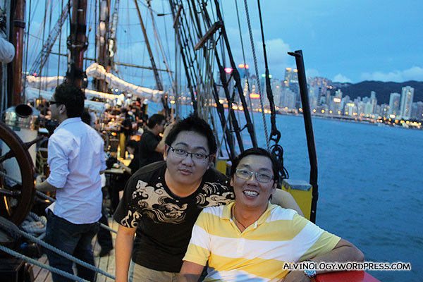 Me with my colleague, Ming Choy