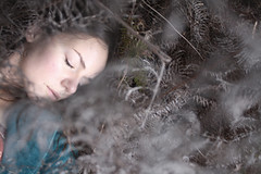 Between the Spirit and the Dust (Ariel Ophelia) Tags: world winter sleeping woman forest dead death donna woods play sleep femme dream dreaming fairy ethereal ferns frau magical faerie fae wintry