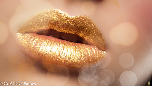 Gold Glam Lips
