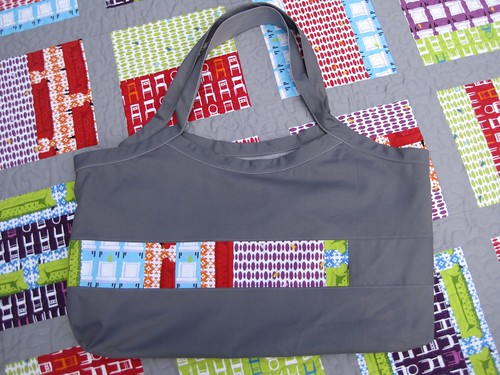 Tufted tweets quilt matching tote