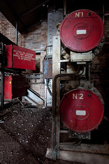 Fuel heaters (rudeboyninja) Tags: abandoned exploring sydney urbanexploration powerstation ue topside urbex flickrgolfclub wbps ndrwrbkup