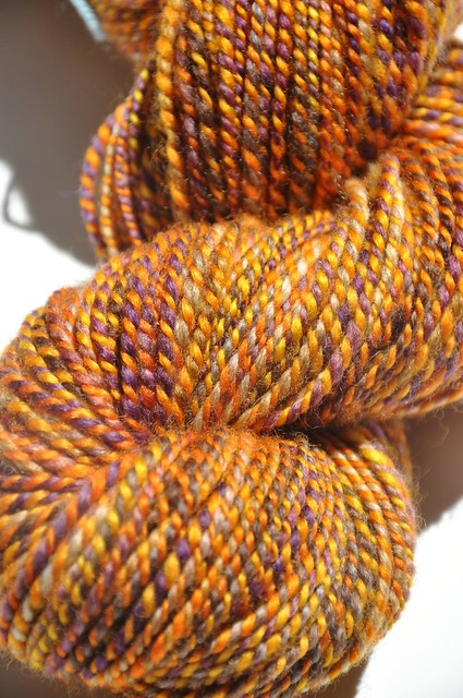 SAG & HYFC-4oz-2-ply-177yds-Ode to Sunflowers & Troublemaker BFL-skein 1-5