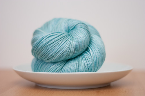 "Eclair Silk Sock in ""Icicle"""