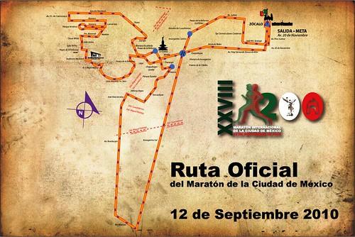 Ruta final del Maratón de la Ciudad de México