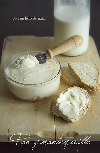 Pan (soda bread) y mantequilla