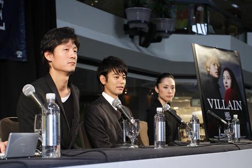 5 sept. - conférence de presse du film japonais en compétition AKUNIN (VILLAIN) (2)