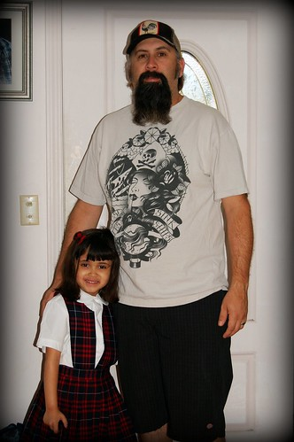 1st Day of Kinder w/ Dad