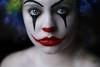 (Lou Bert) Tags: portrait white black art halloween girl face make up self costume paint sad clown wig facepaint ihavetakenabreakfrommy365breakitwillcommencetomorrow