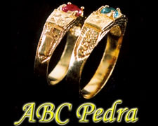 Anel ABC Pedra