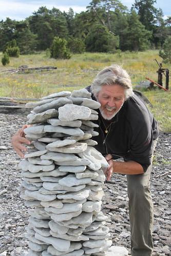 Sylve hittade en stenhög