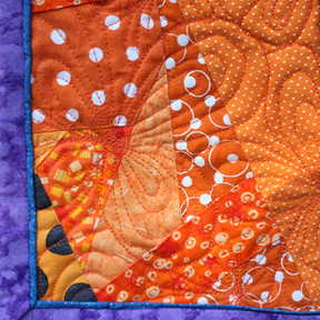 Orange Elixir - Front - Binding & Quilting Detail