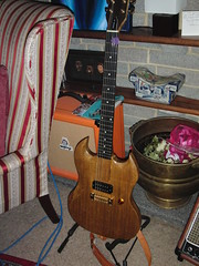 English Oak Electric Guitar