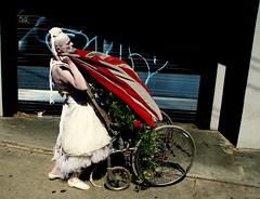 Mom (yankeepez) Tags: street woman festival fun nc artist asheville lexington flag north arts carolina avenue perfomance laaff
