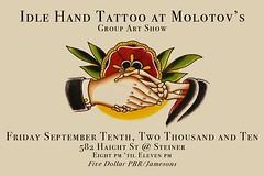 Idle Hand Art Show @ Molotov's, S.F.