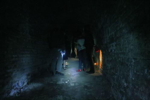 Simply lit corridor