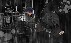 Attack of the SERAPHIM (Ashur Kentoku) Tags: sexy femme attack sl scifi latex neko catsuit cyberpunk ashur seraphim mitz midian midiancity