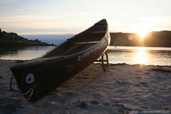 Slinky Shark (zombikombi1959) Tags: camping sunset sea beach water evening scotland boat tour canadian canoe isleofmull ripples prospector headland wildcamping calgarybay