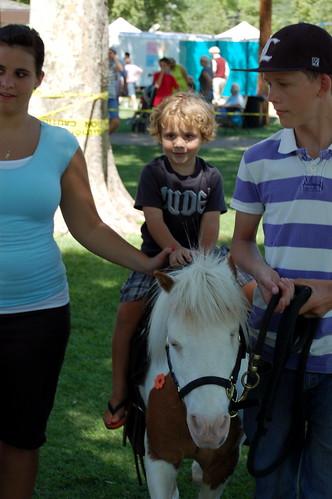 Clark Riding a Pony