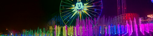 Mickey wheel and a rainbow of color