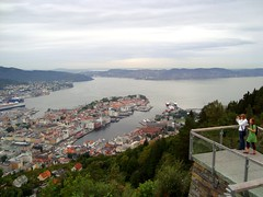Bergen, Norway (DolceDanielle) Tags: norway view top panoramic mount fjord bergen floyen flyen flyfjellet