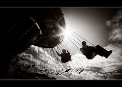Father & Son.. (jetbluestone) Tags: sun sepia clouds ride father son merrygoround