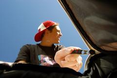 Day 253/365 September 10, 2010 (Tyler Silva Photography) Tags: blue sky me hat hand tyler backpack zipper 365 silva inthebag zipitup
