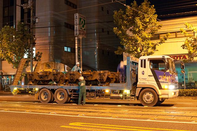 伊予鉄道800系 クハ856 台車搬出
