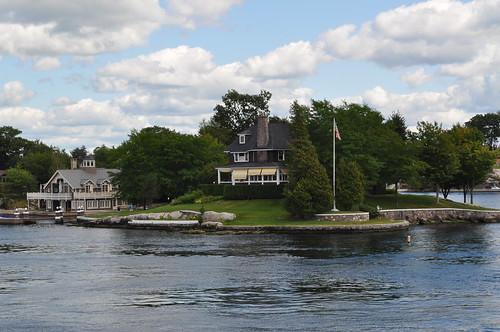 Detalle de casa en la Región de las 1000 islas