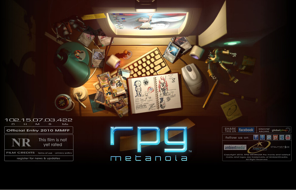 Philippines' first 3-D animated feature film RPG Metanoia official website