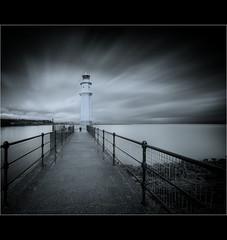 West Wind... (Devilineden) Tags: lighthouse white black photoshop canon edinburgh long exposure harbour forth lee newhaven filters 50d cs5 devilineden scotlandfirth