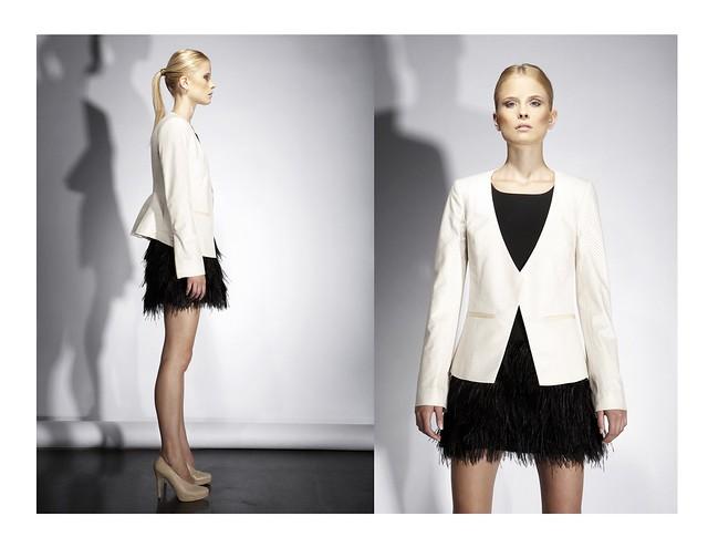 BROSE SIINATRA Peplum Jacket / NATALIE Ostrich Feather Tutu
