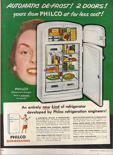 Admiral Fridge and Head 1951 Vintage Ad Browser.