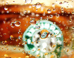 Starbucks Coffee ~ ! (Anuma S. Bhattarai) Tags: uk nepal macro reflection green water coffee photography scotland droplets asia edinburgh flickr unitedkingdom cybershot drop starbucks nepali starbuckscoffee anuma bhattarai cybershotdsch50 anumabhattarai anumasphotography anumasharmabhattarai